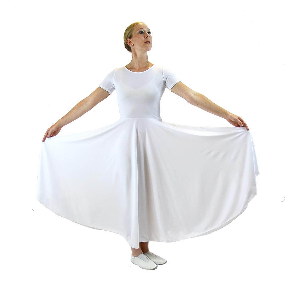 Danzcue Short Sleeve Full Length Praise Dance Dress
