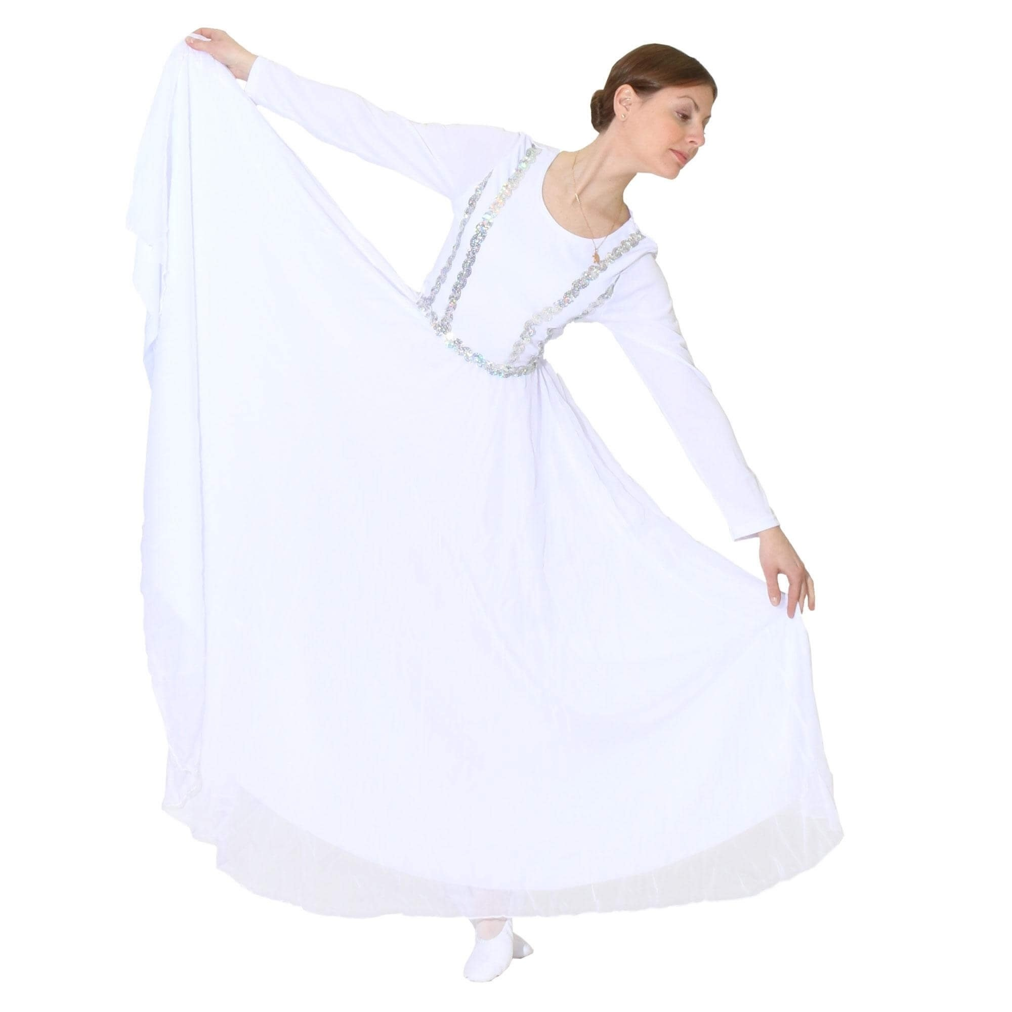 Danzcue Full Length Vivid Chiffon Praise Dance Dress