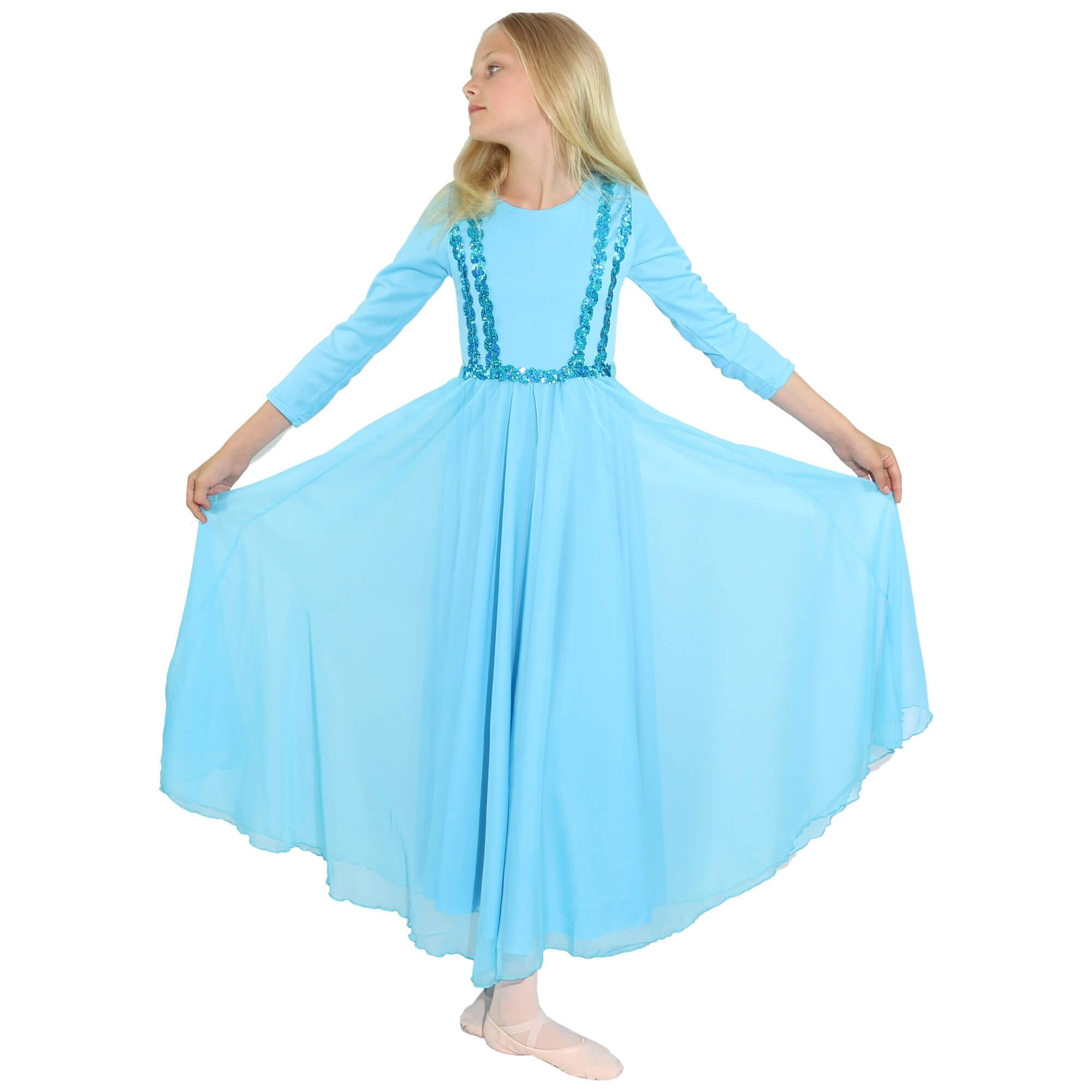 Danzcue Child Full Length Vivid Chiffon Dress