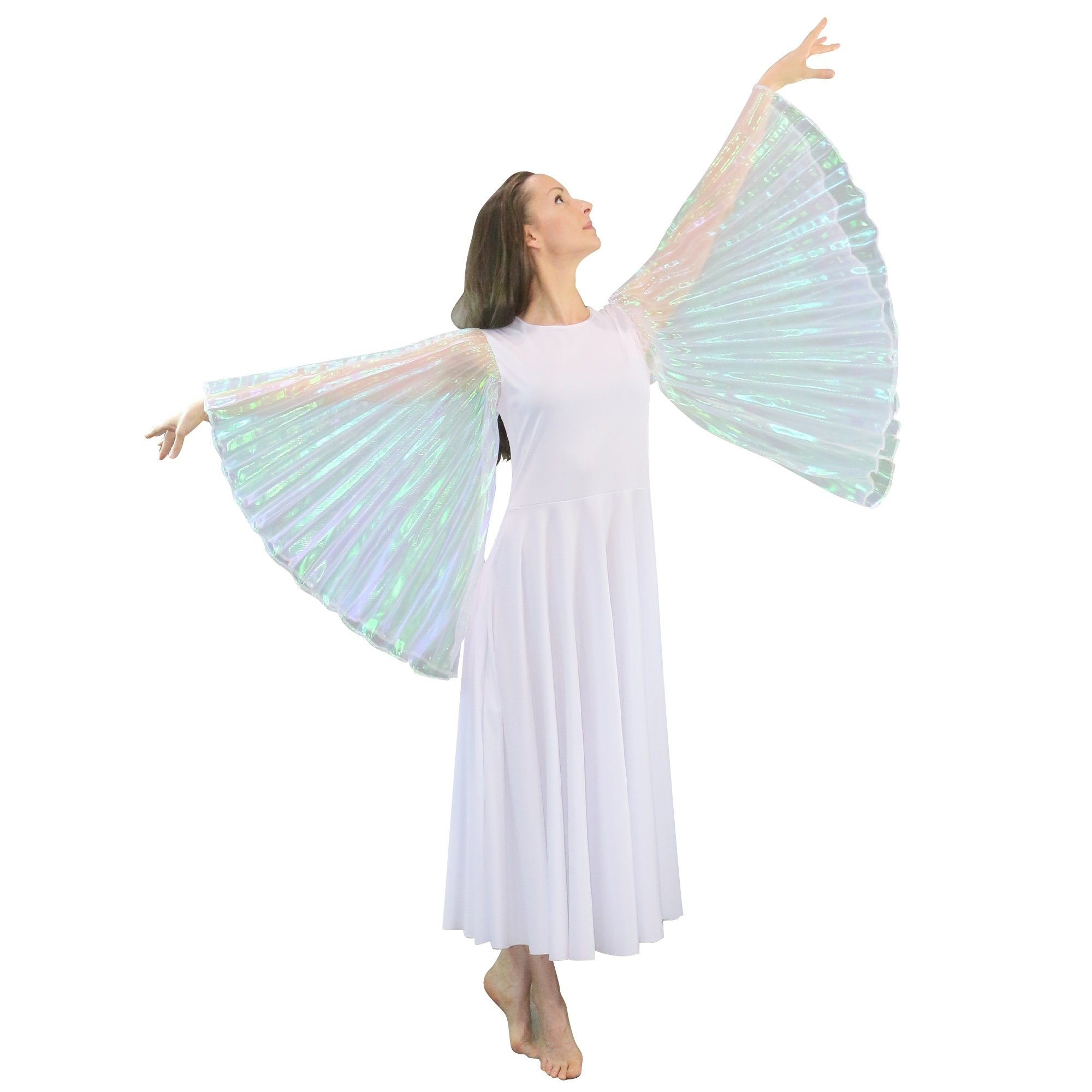 Danzcue Praise Dance Full Length Wing Sleeve Dress