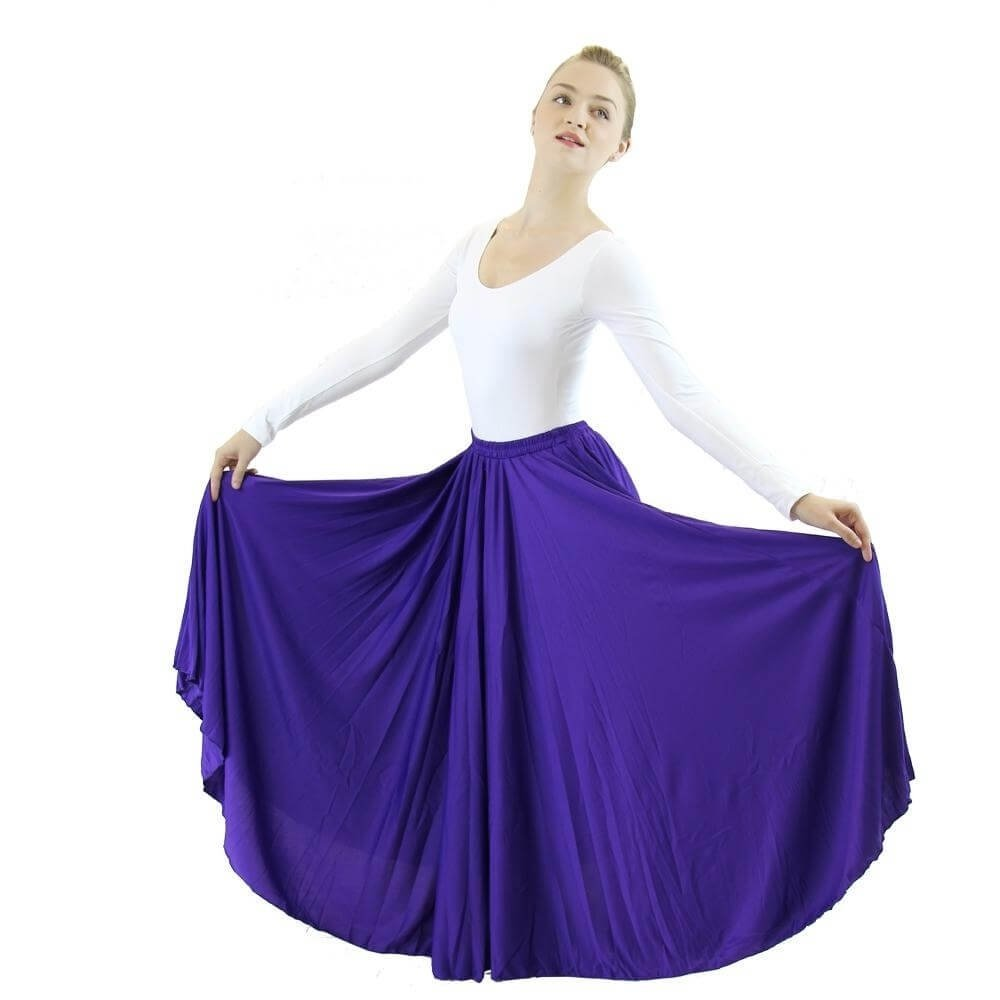 Danzcue Deep Purple Long Circle Skirt
