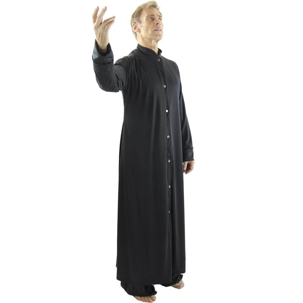 Mens Robe with Stand-up Collar