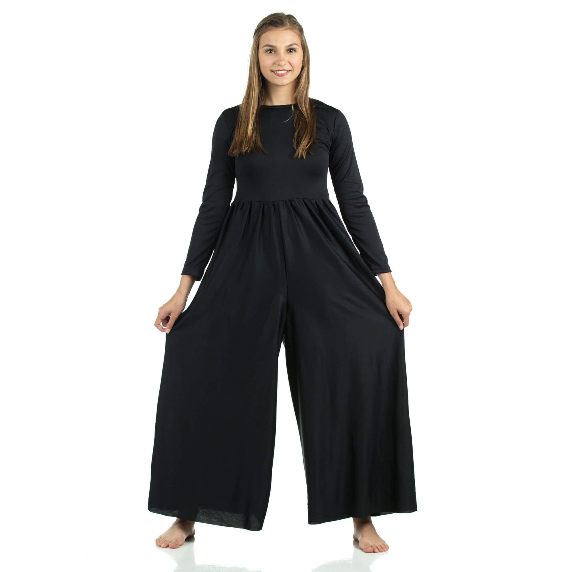 Long Sleeve Crew Neck Jumpsuit