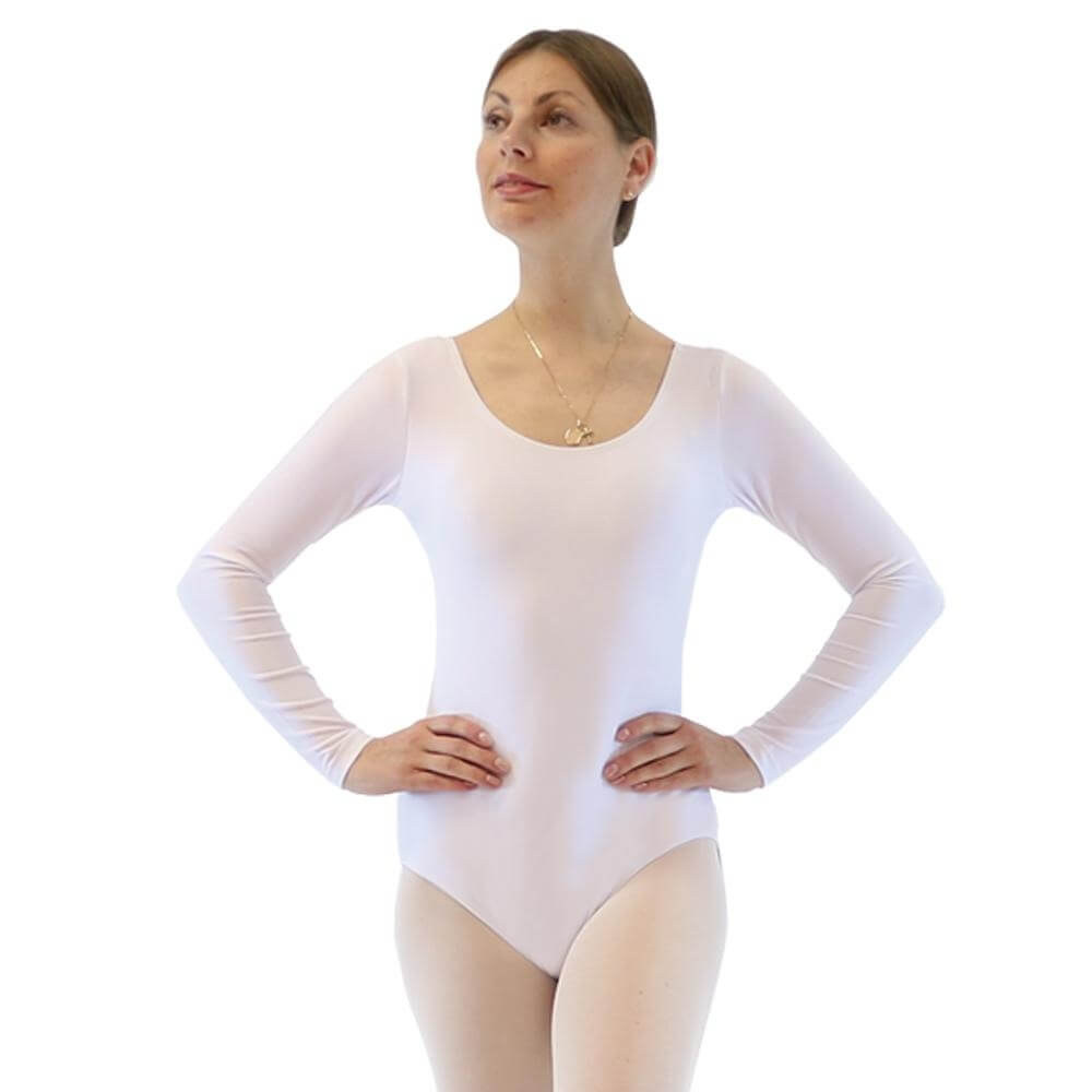 Danzcue Basic Nylon Long Sleeve Leotard