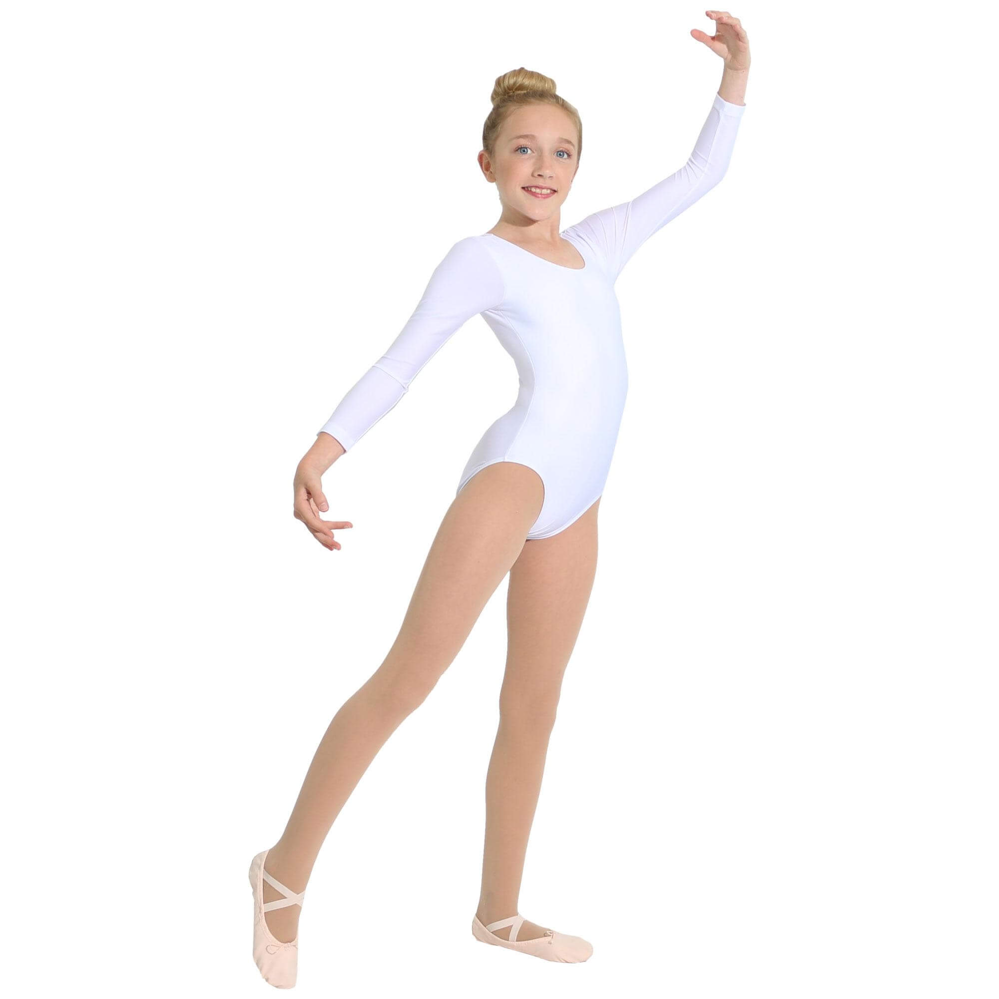 Danzcue Basic Nylon Long Sleeve Child Leotard