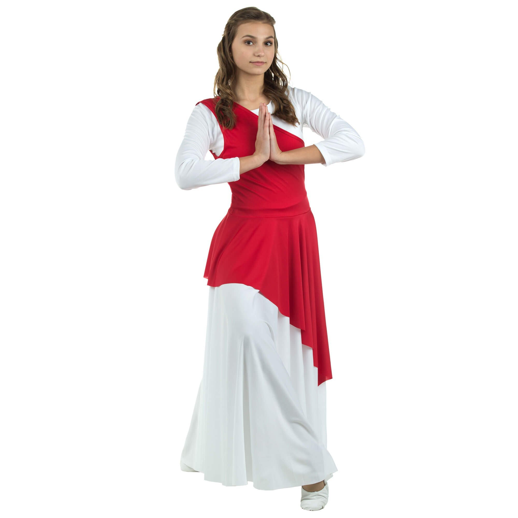 2-pc Set Danzcue Praise Full Length Long Sleeve Dance Dress with Tunic