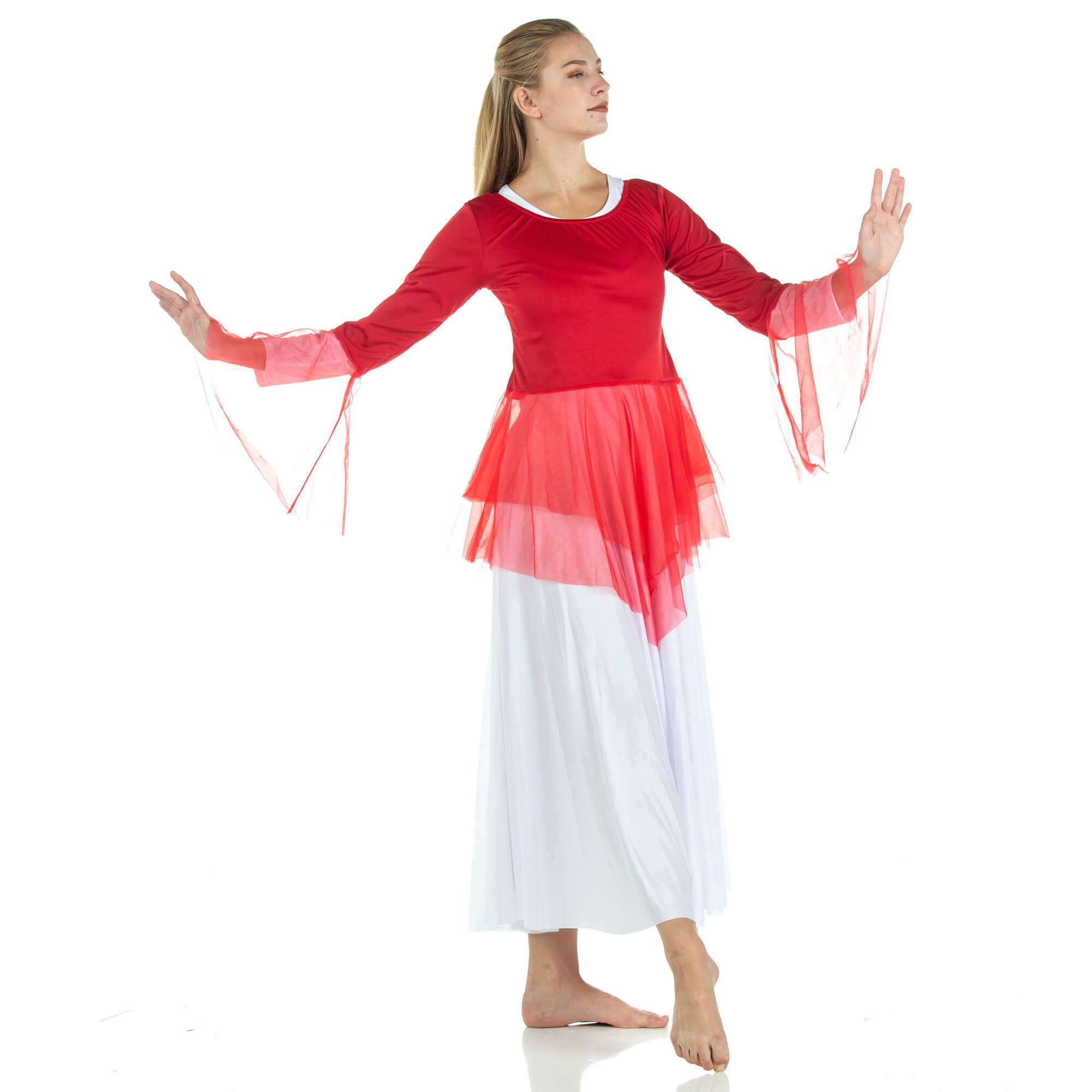 Danzcue Ministry Dance Chiffon Skirted Tunic