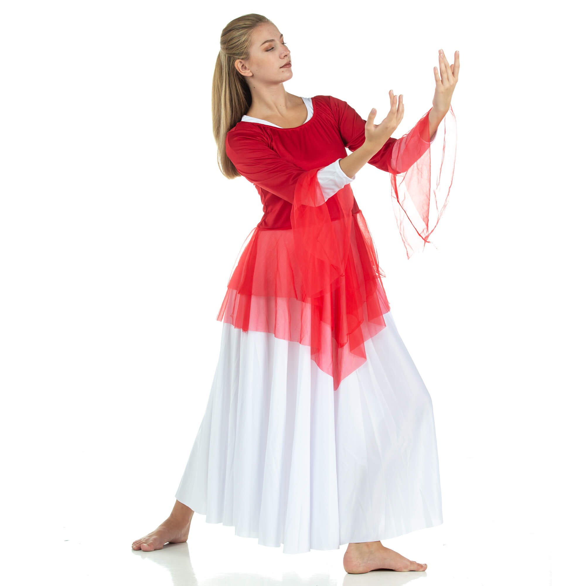 Danzcue Ministry Dance Chiffon Skirted Tunic - Click Image to Close