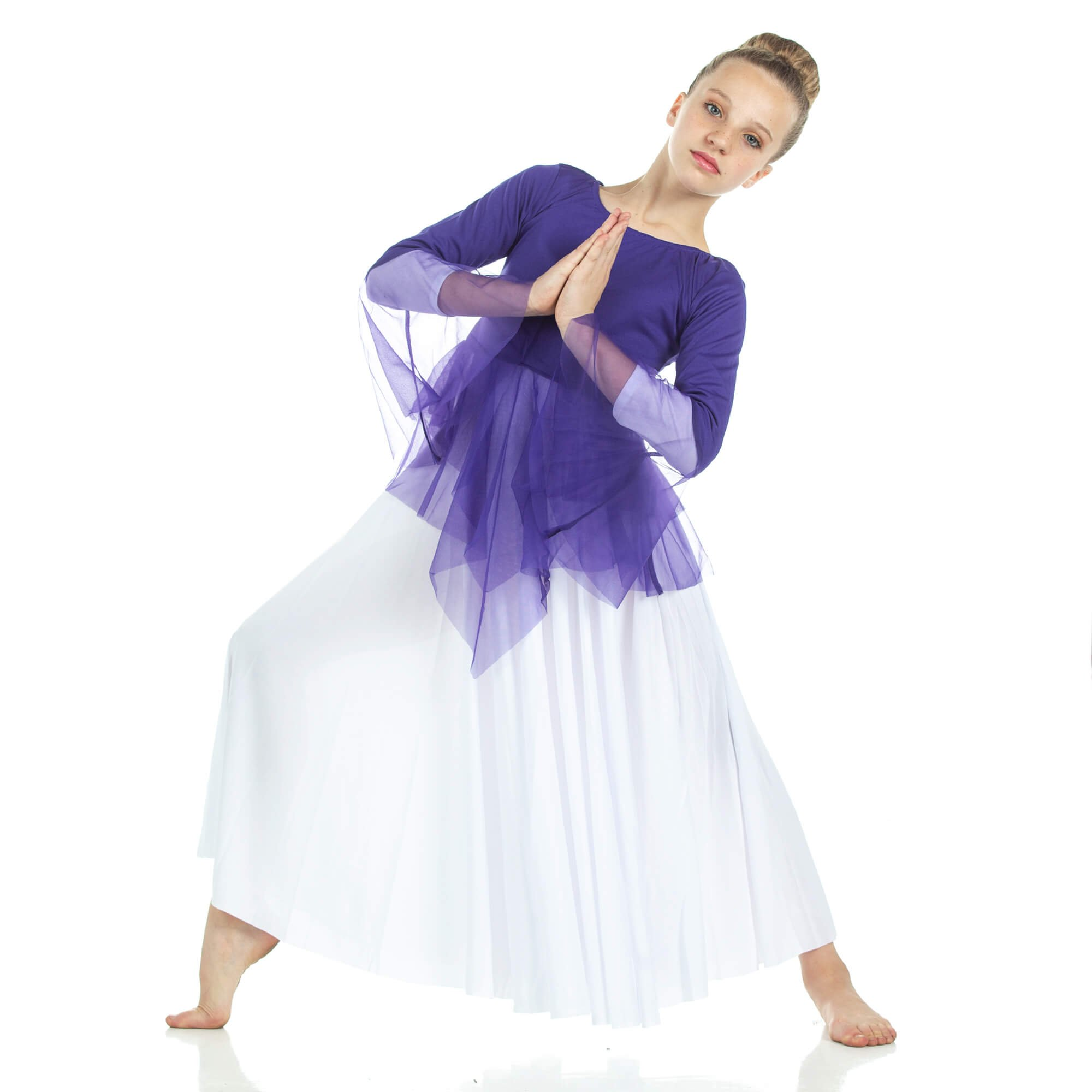 Child Ministry Dance Chiffon Skirted Tunic