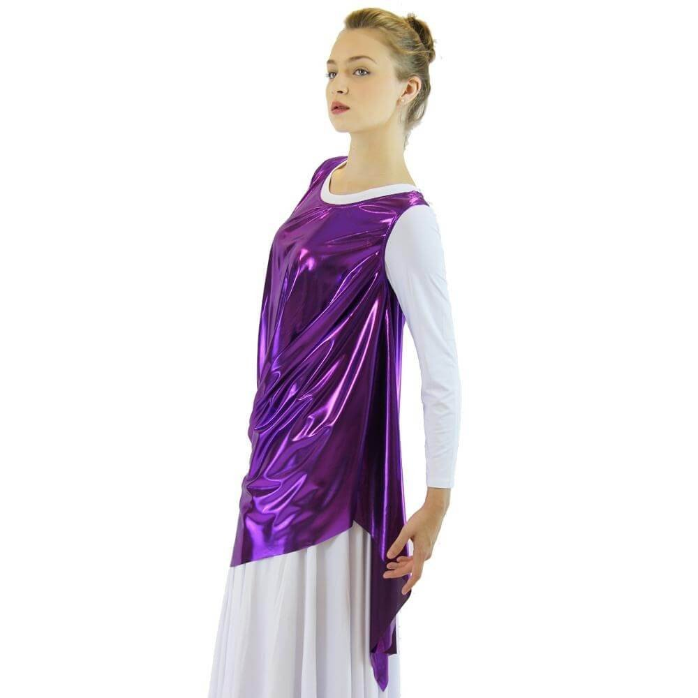 Celebration of Spirit Drapey Praise Dance Tunic Tank Pullover - Click Image to Close