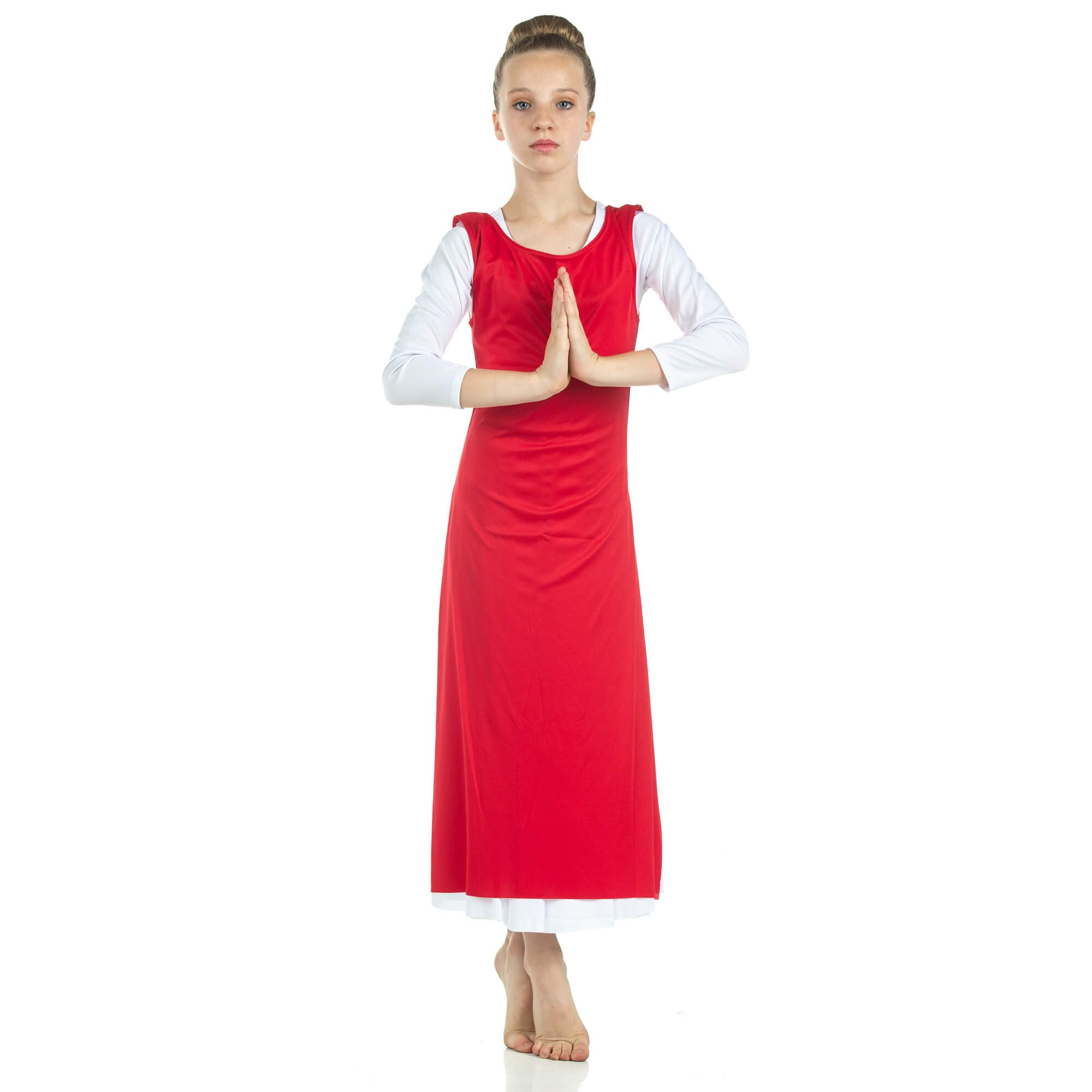 Child Worship Dance Tunic with Side Slits (white dress not included)