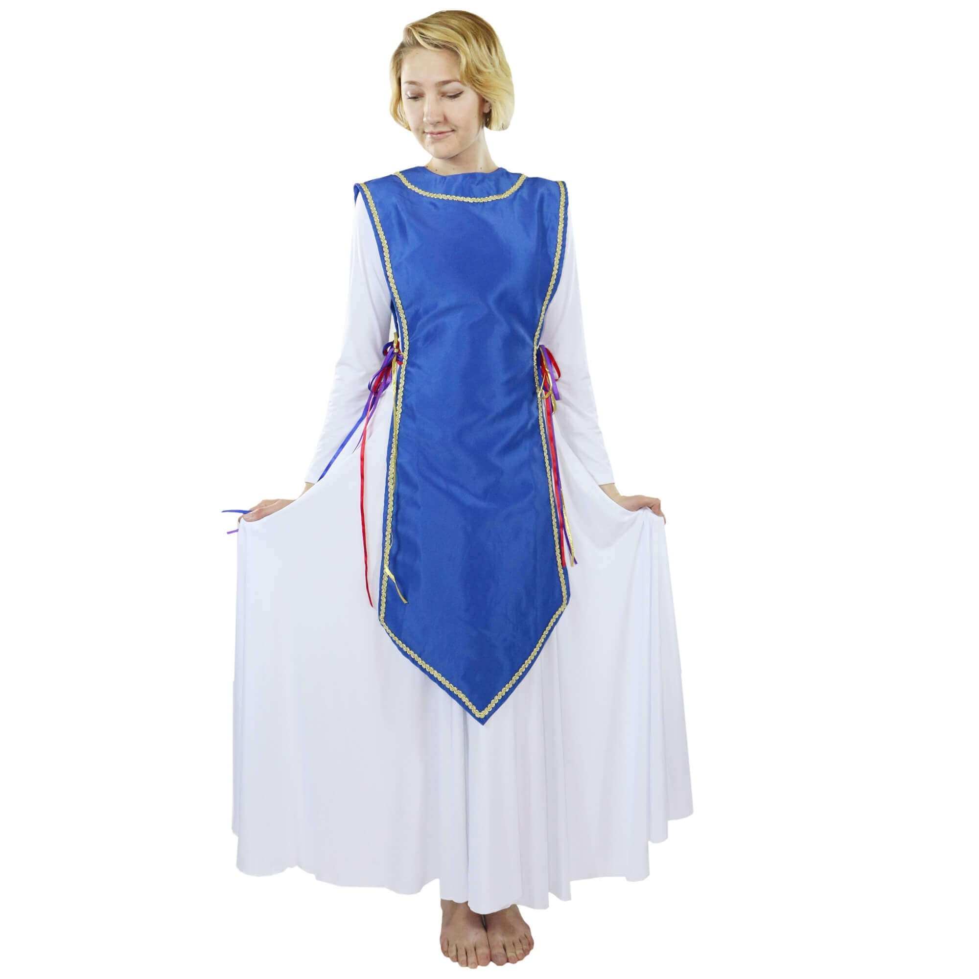 Danzcue Ministry Dance Satin Traditional Ephod Top