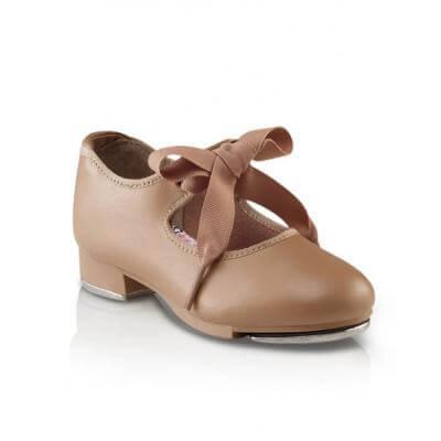 Capezio 625C Child Size 3M Fits 2.5 Black Patent Junior Tyette Tap Shoe