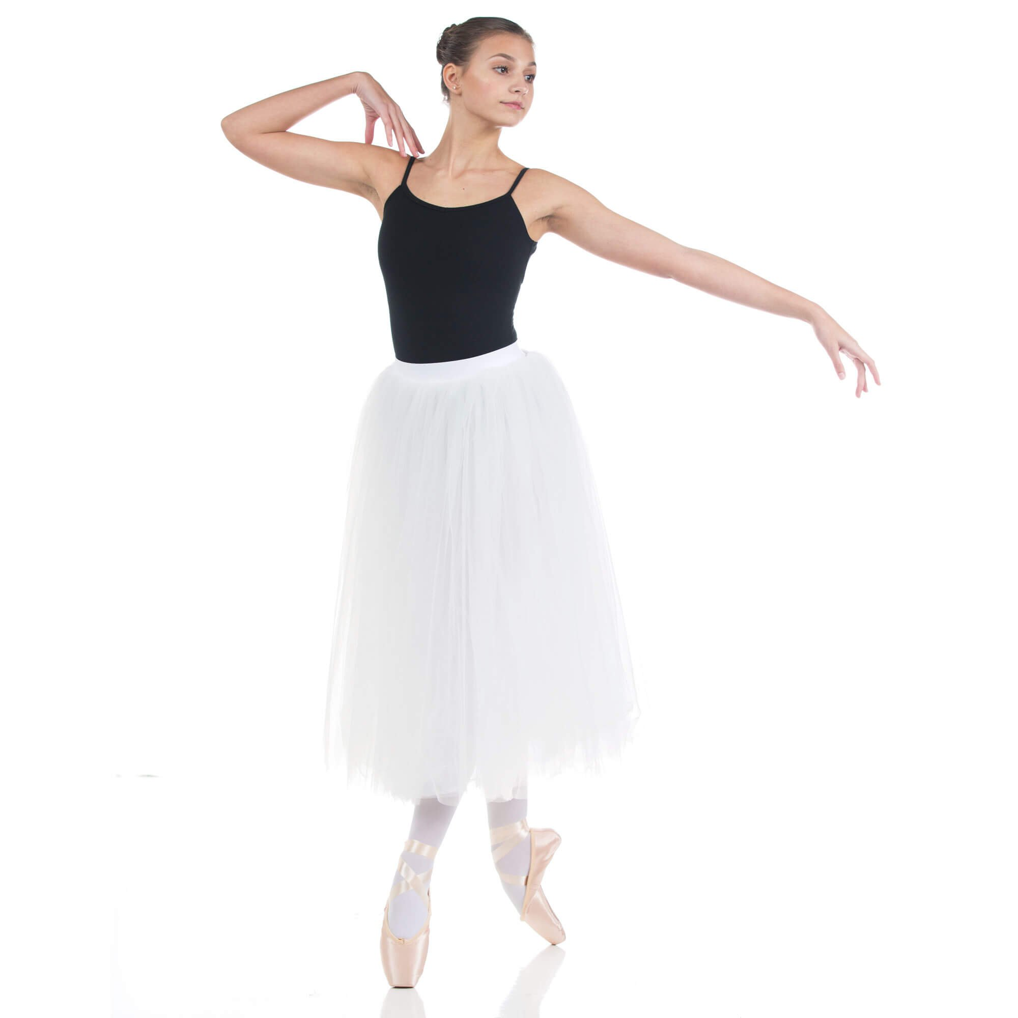Baiwu Womens Ballet Long Performance Tutu Skirt