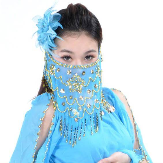 Belly Dance Veil With Beads