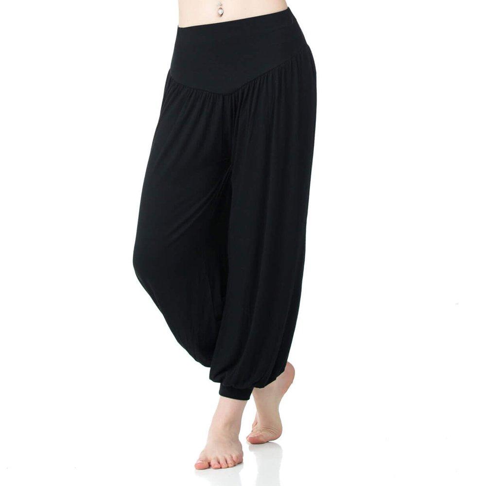 Danzcue Womens Soft Belly Dance Yoga Sports Harem Pants