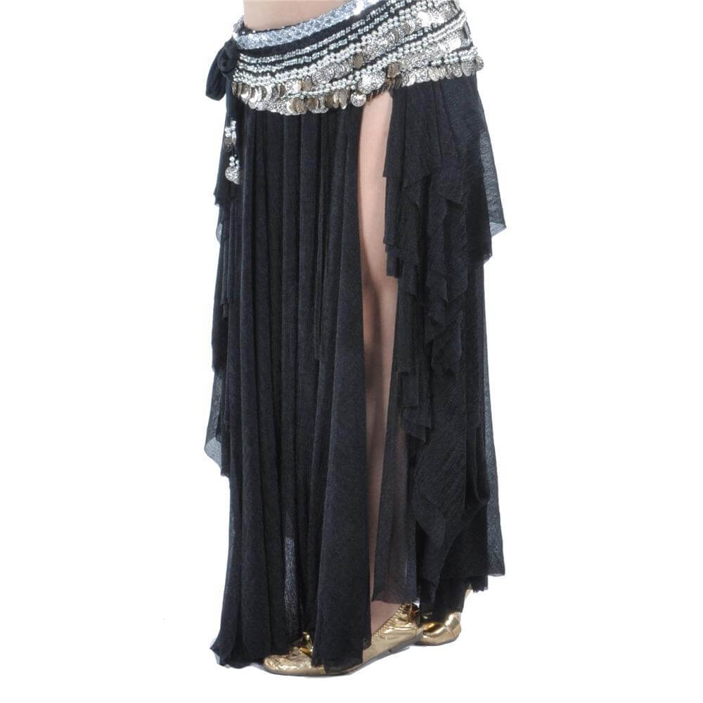 Fashion Glass Silk Belly Dance Ear Skirt