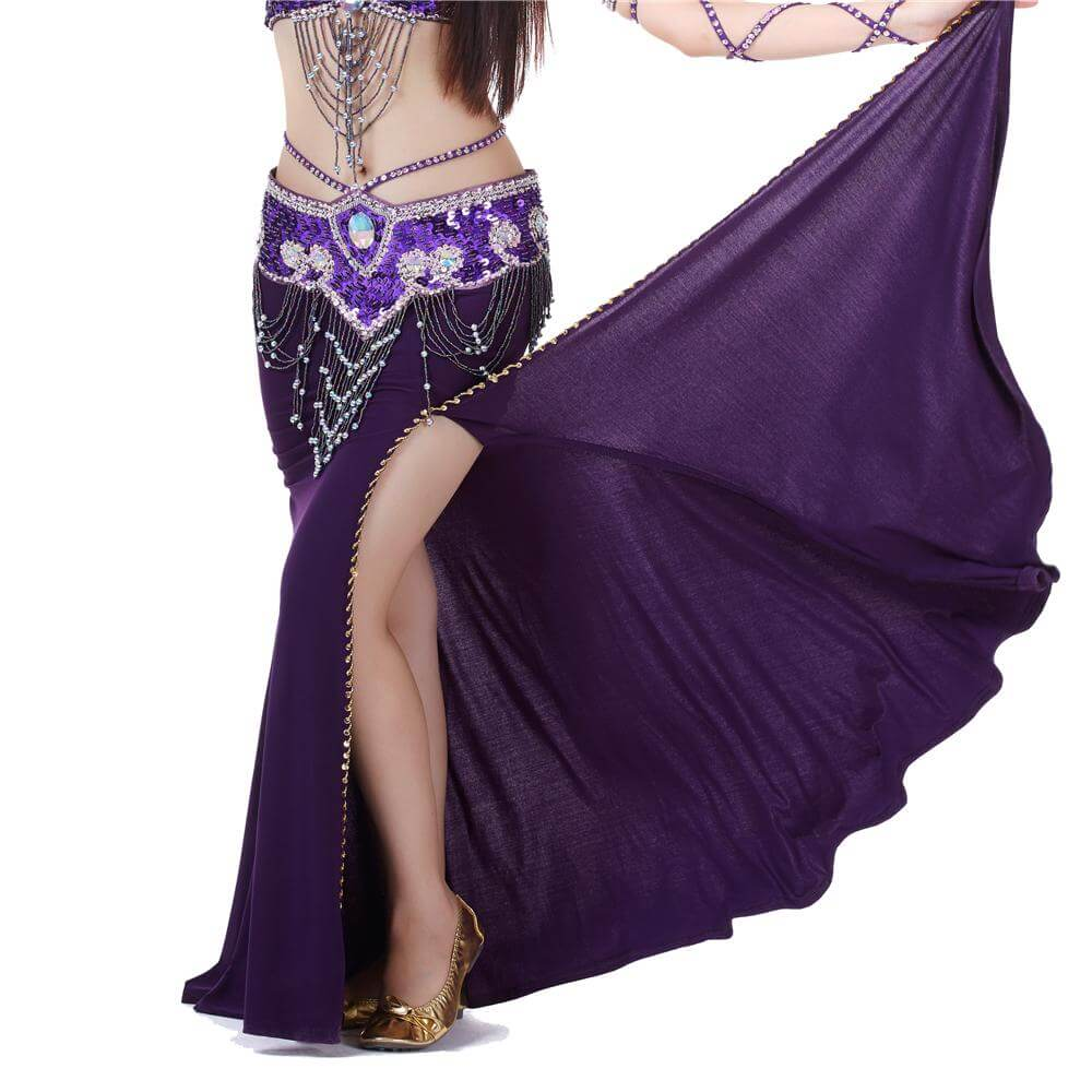 Fashion Glassbeads Embroidery Belly Dance Skirt (belt not included)