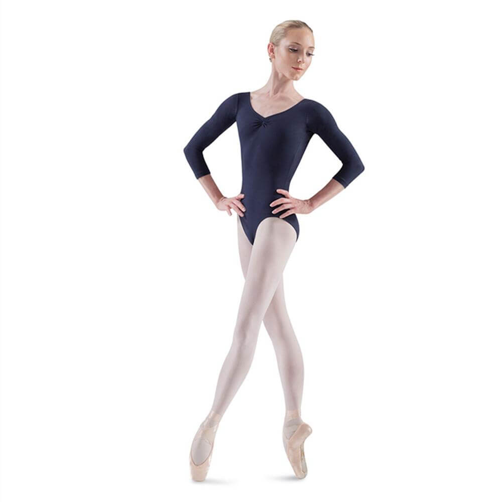 Bloch Adult Ballon 3/4 Sleeve V-Front Leotard