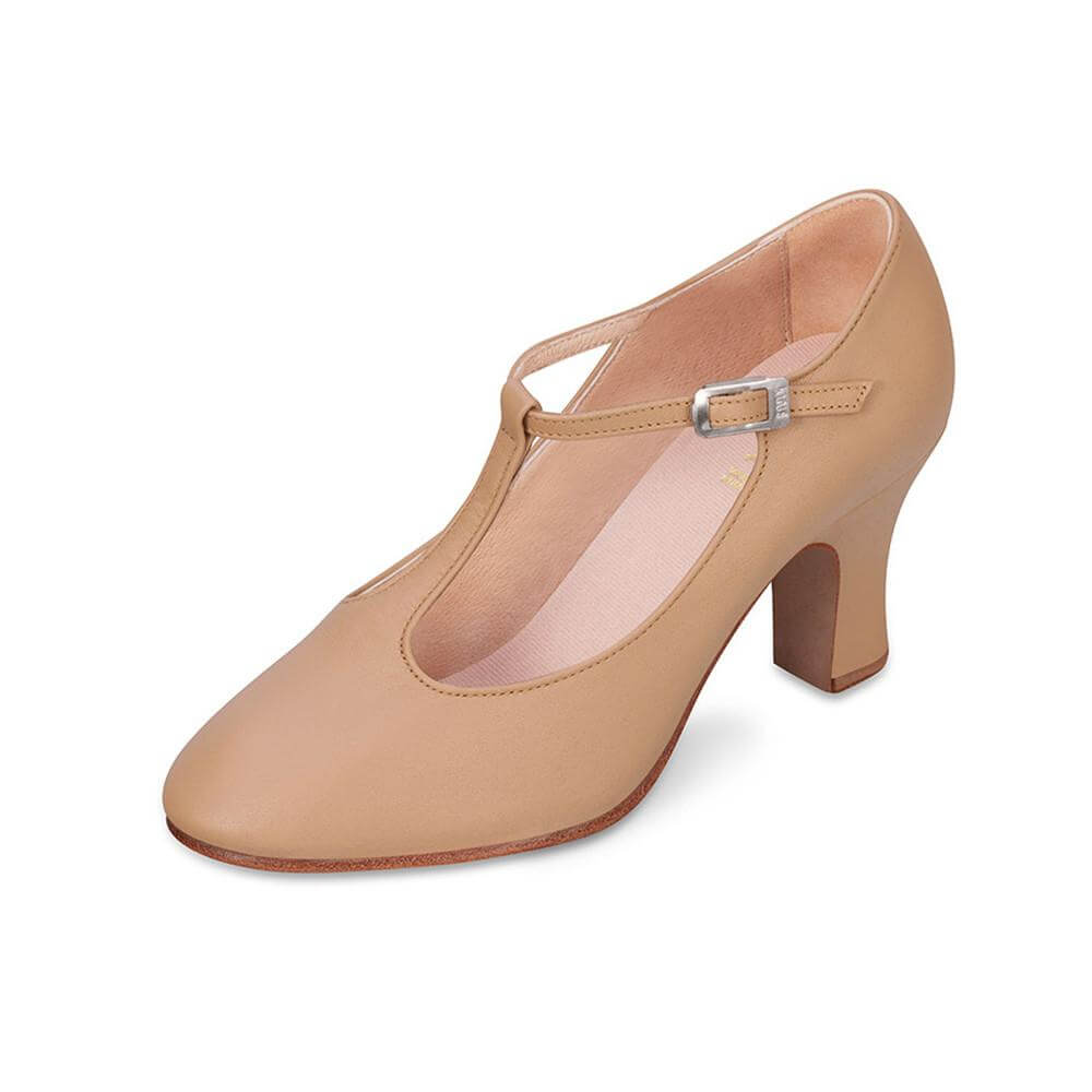 Bloch Adult 3 inch Heel Chord T-Strap Character Shoe