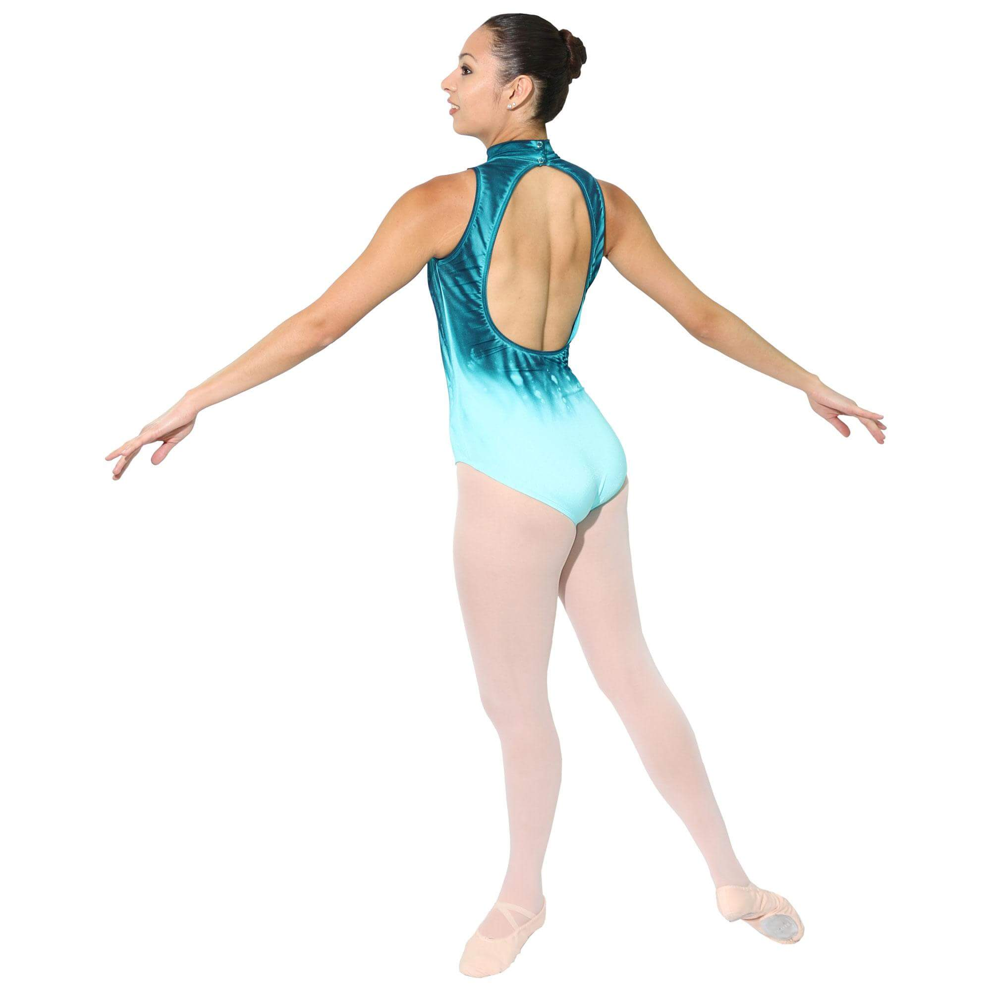 Baltogs Adult 2-Tone Mock Neck Leotard