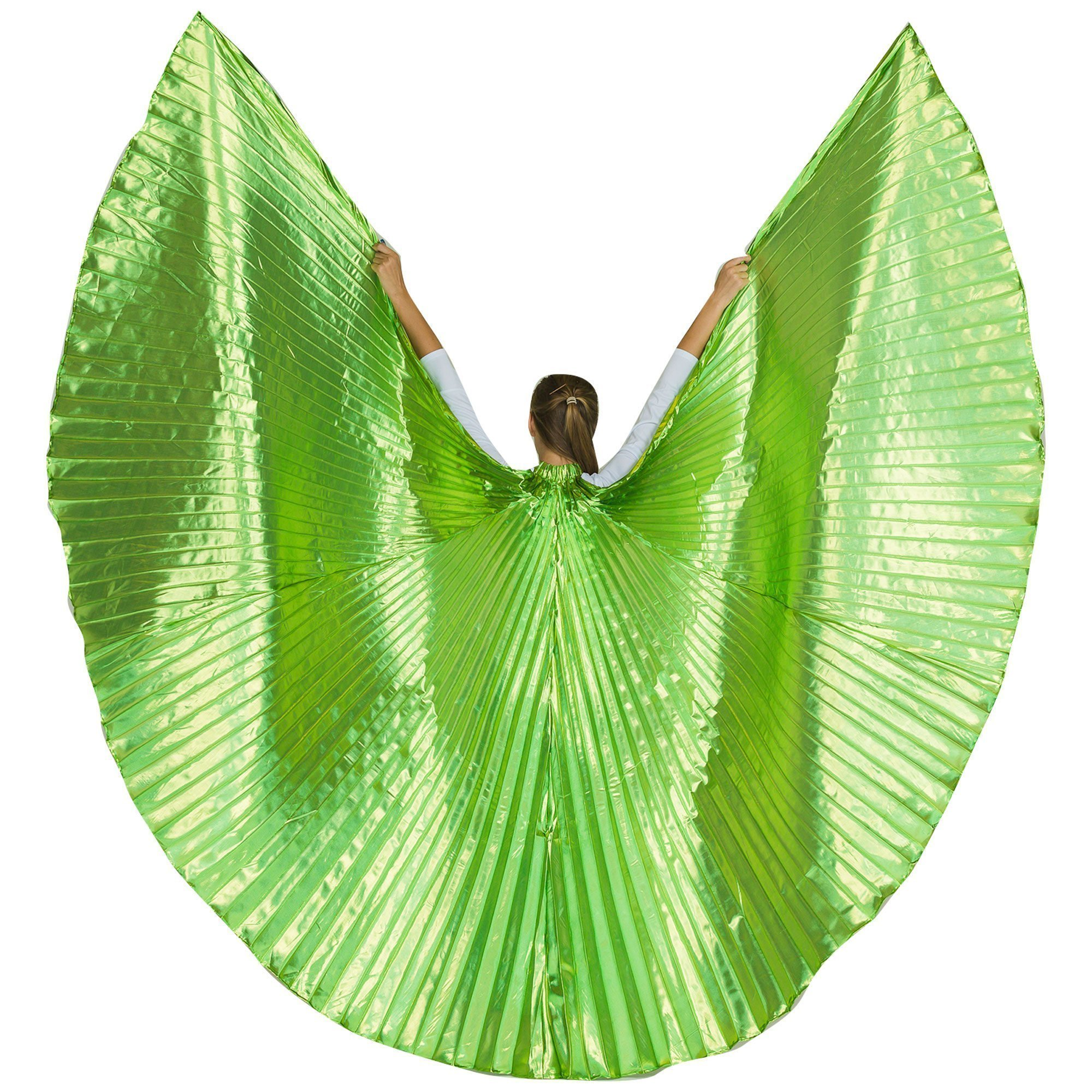 Danzcue Solid Lime-green Worship Angel Wing