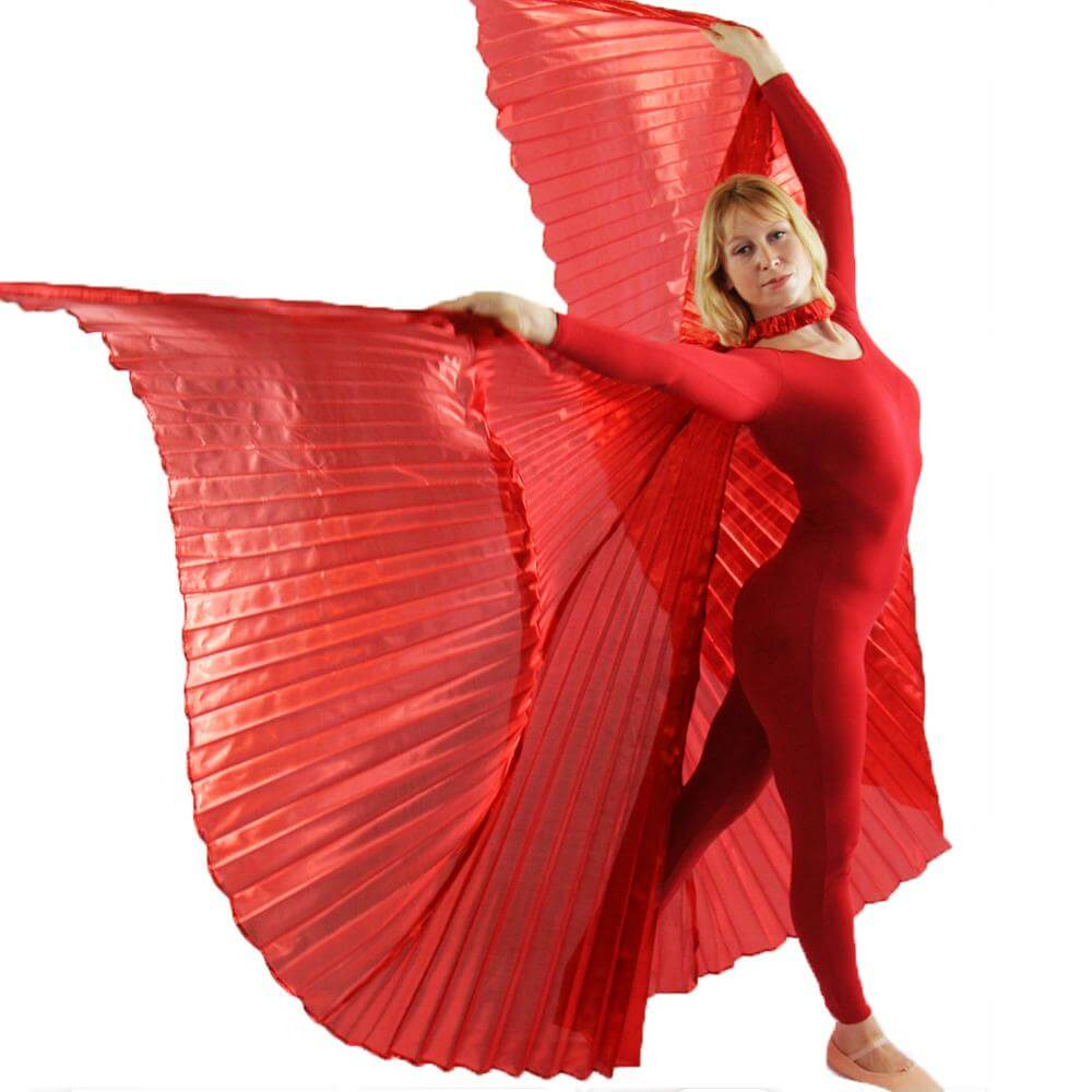 Danzcue Solid Red Worship Angel Wing