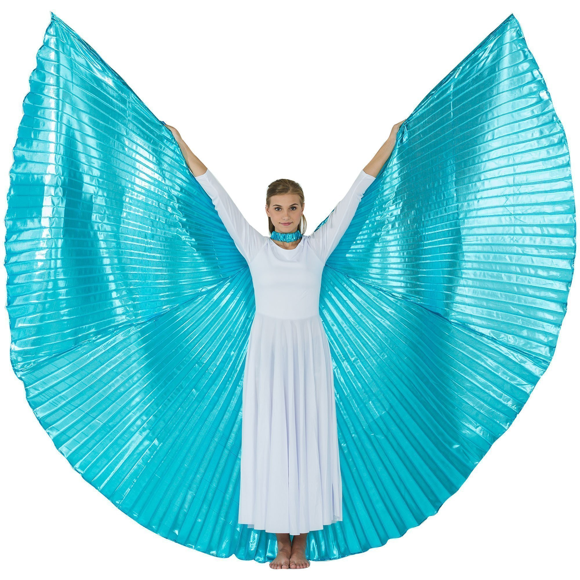 Danzcue Solid Turquoise Worship Angel Wing