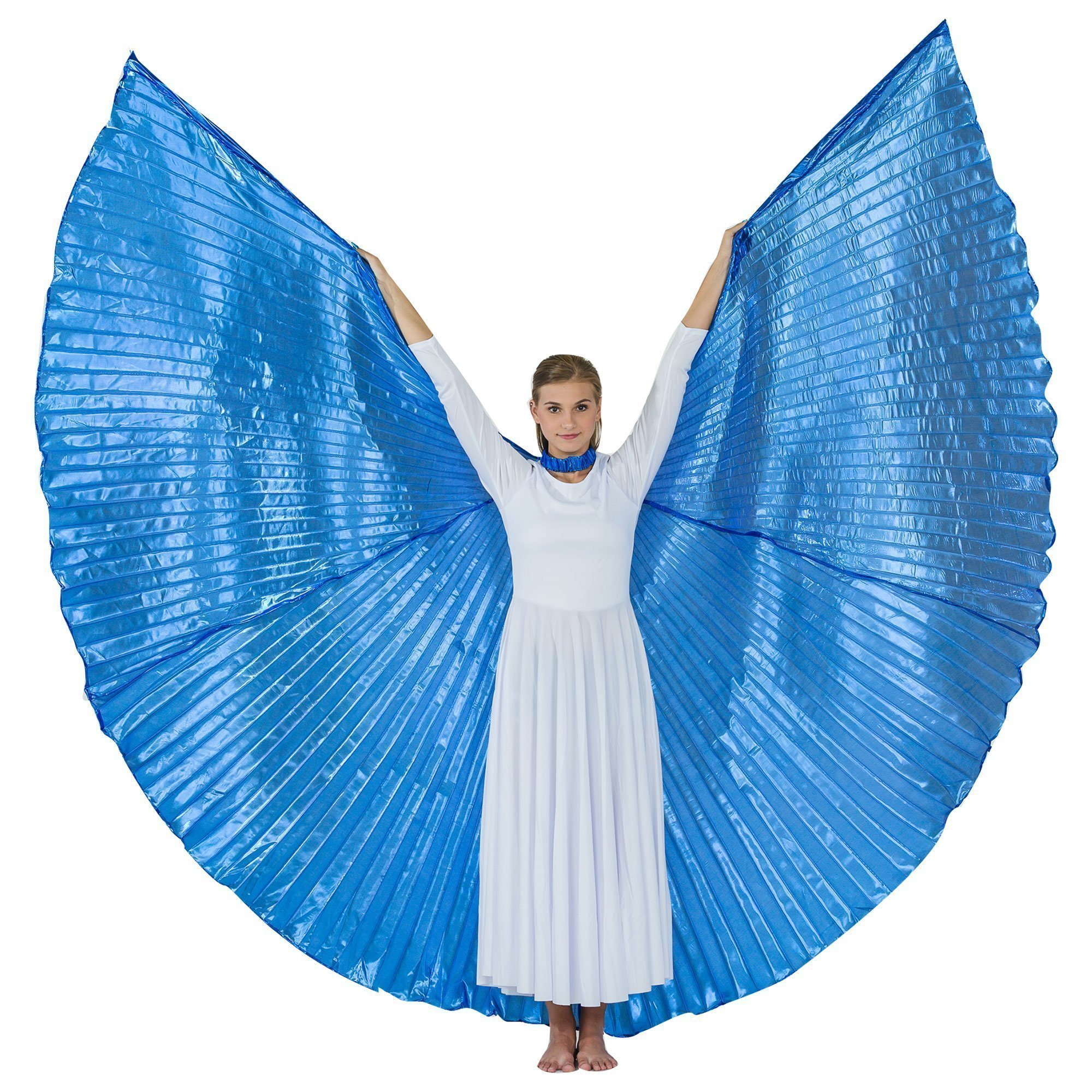 Danzcue Solid Royal Blue Worship Angel Wing
