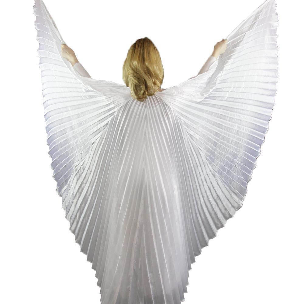 Danzcue Solid White Worship Angel Wing