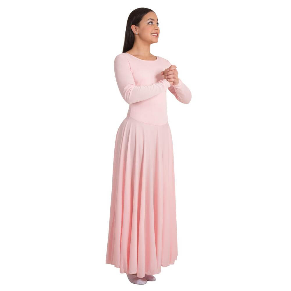 Body Wrappers Praise Full Length Long Sleeve Dance Dress