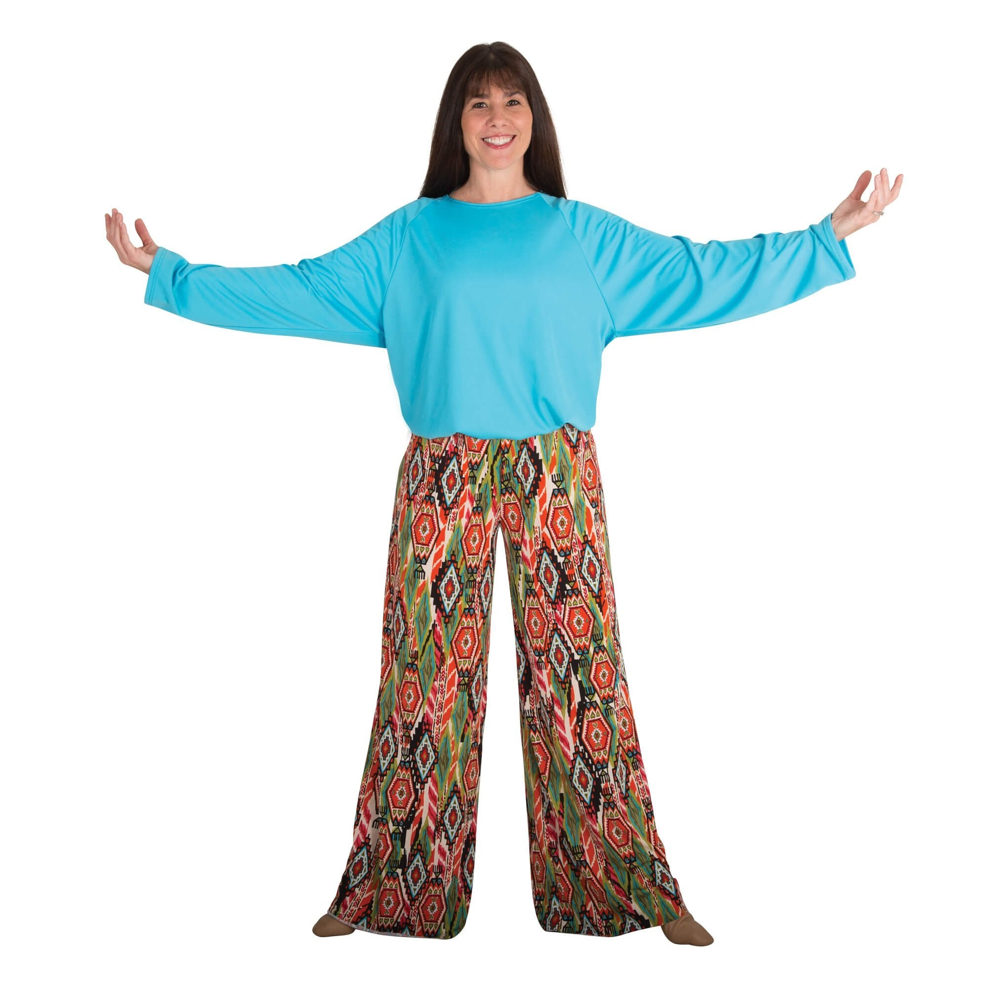 Body Wrappers Printed Palazzo Pants