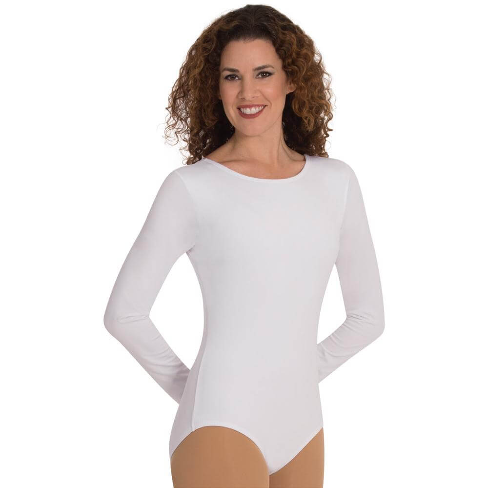 Body Wrappers Snap Crotch Long Sleeve Leotard