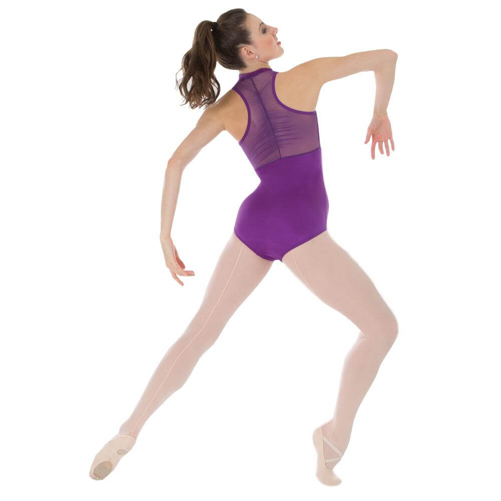Body Wrappers / Tiler Peck Designs Power Mesh Zip Front Leotard