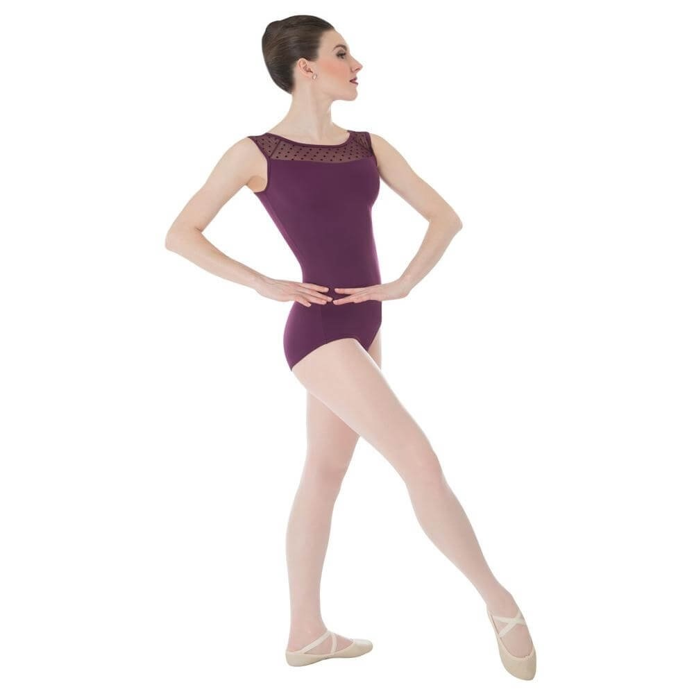 Body Wrappers / Tiler Peck Designs Dotted Yoke Leotard