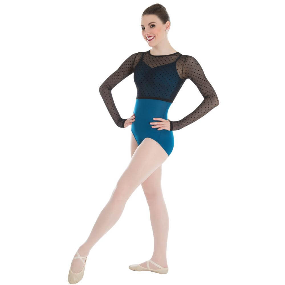 Body Wrappers / Tiler Peck Designs Dotted Long Sleeve Shrug