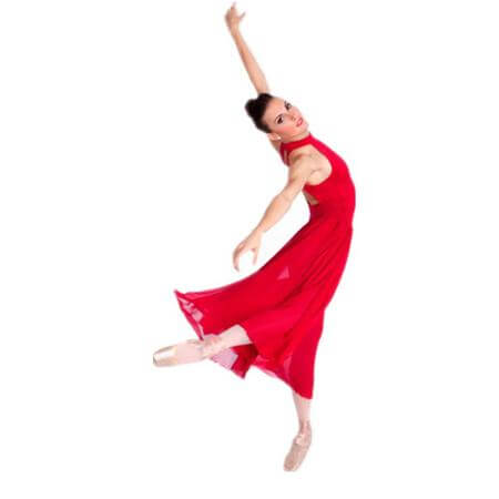 Body Wrappers Long Mock T-Neck Dance Dress