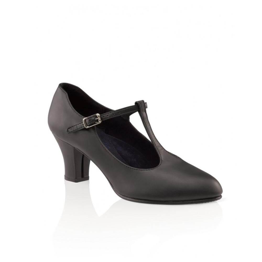 Capezio 750 Adult 2 Heel Jr. Footlight T-strap Character Shoe