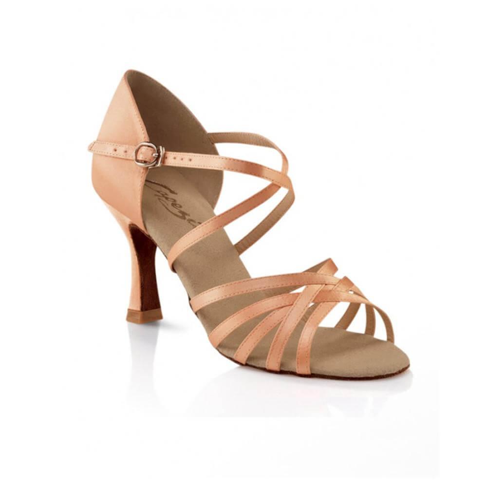 Capezio Sd02s Adult Satin Rosa 2.5 Heel Ballroom Shoe