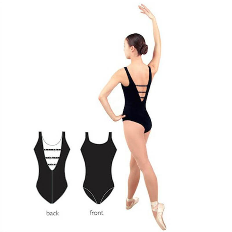 Danshuz Tank Leotard With Rhinestone Back