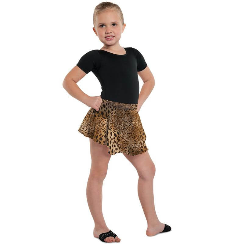 Danshuz Child Leopard Circle Skirt