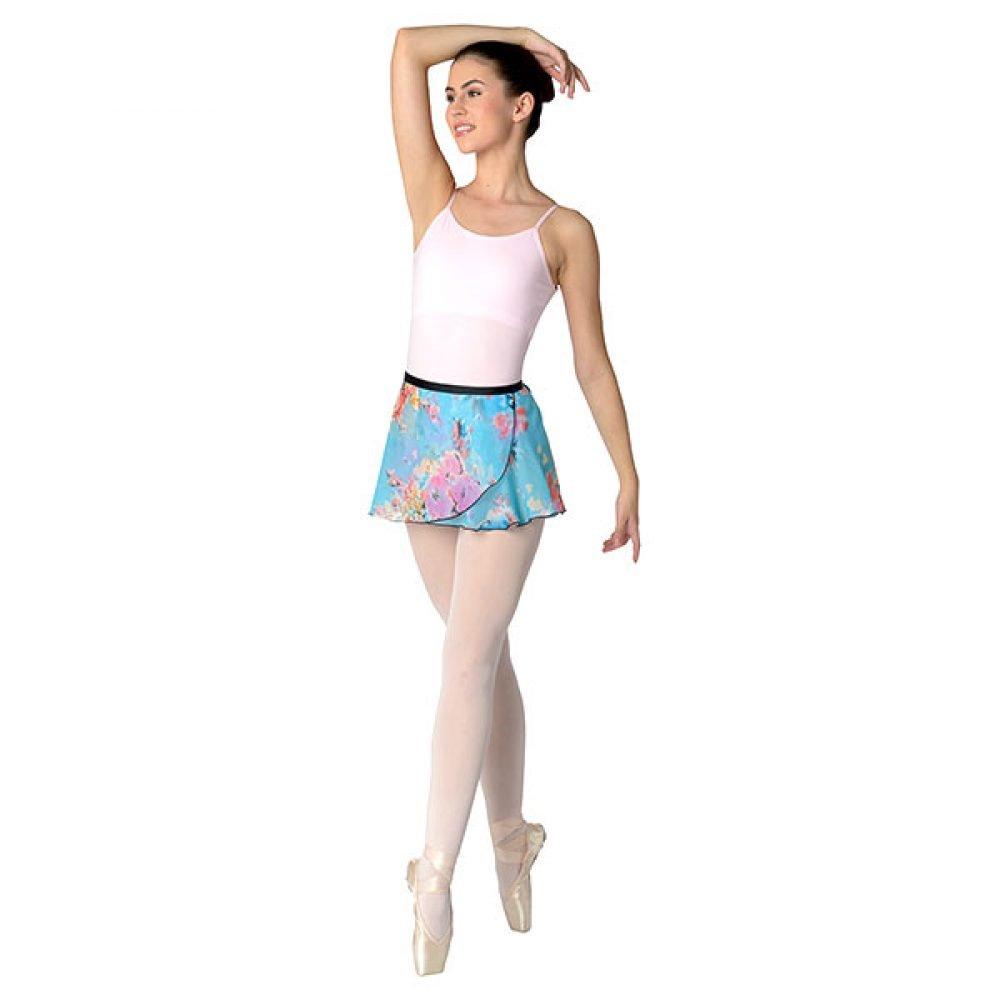 Danshuz Blue Flower Print Skirt