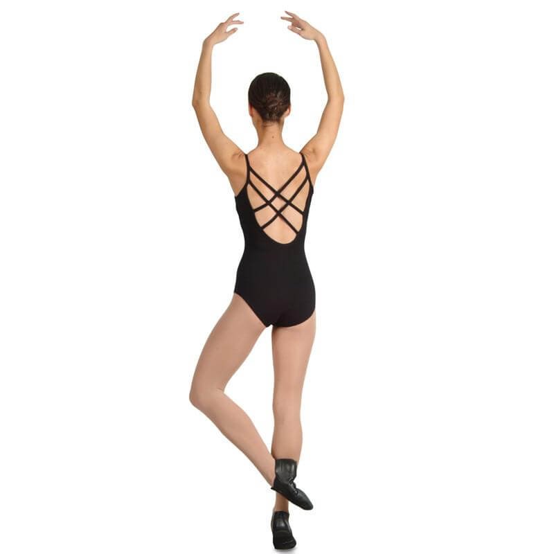 Danshuz Camisole Leotard with Cross Strap