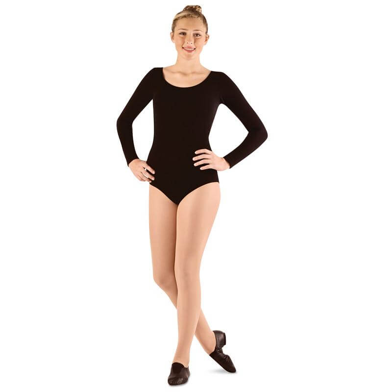 Danshuz Cotton Long Sleeve Leotard
