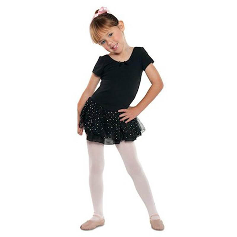 Danshuz Child Short Sleeve Dress w/ Hologram Skirt