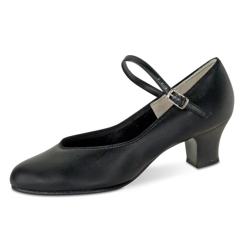 Danshuz Adult 1-1/2 inch Heel Tap Queen Black Character Shoe