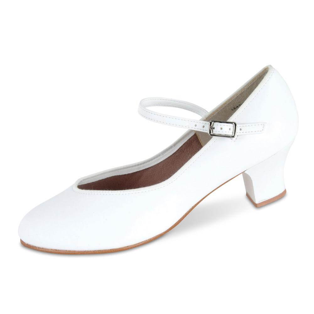 Danshuz 1 1/2 Heel Tap Queen White Character Shoe