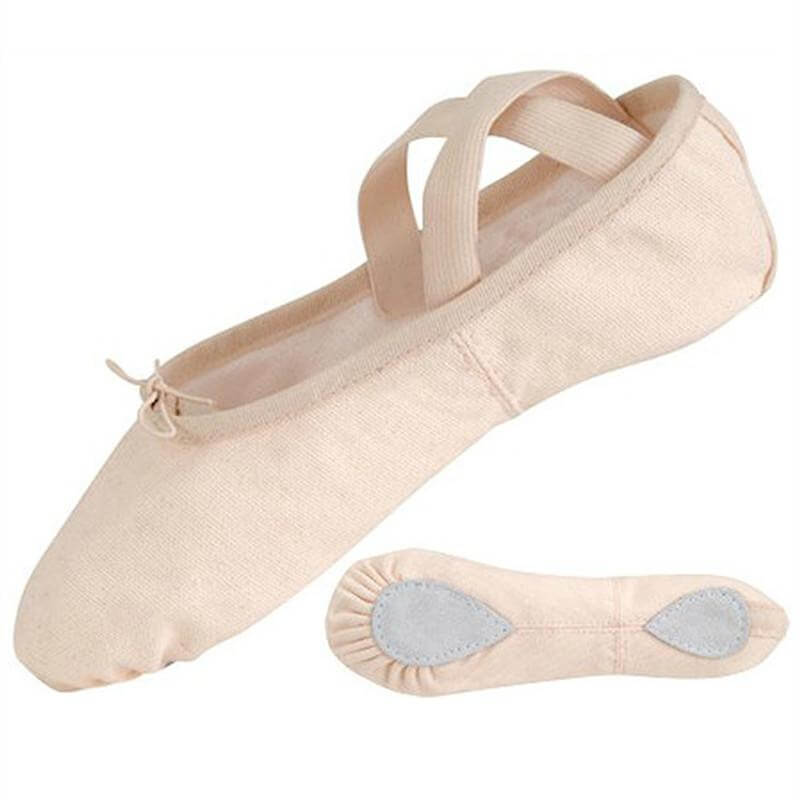 Danshuz Split Sole Canvas Ballet Slipper