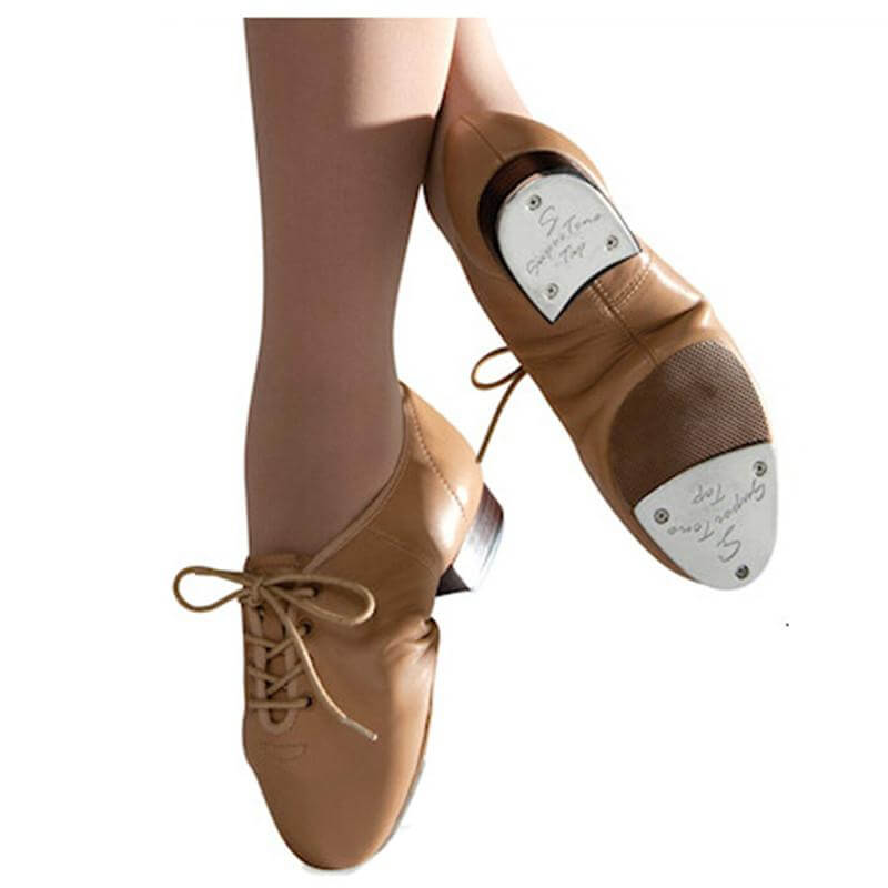 Danshuz Child Split Sole Jazz Lace Up Tap Shoe