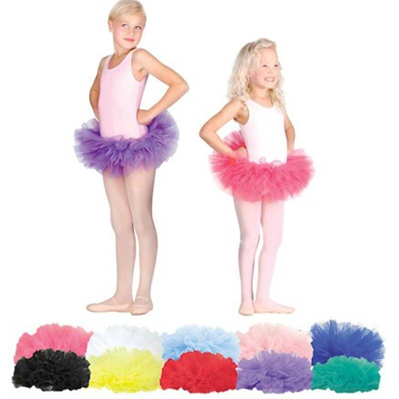 Danshuz Child Four Layers Full Bando Elastic Waist Tutu